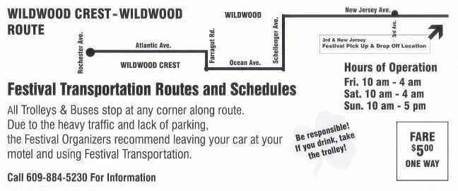 Wildwood & Wildwood Crest Trolley Route